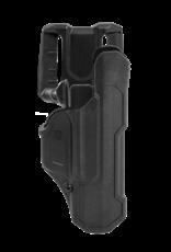 Blackhawk BLACKHAWK T-SERIES L2D HOLSTER, GLOCK 17 / 19 / 22 / 23 / 45, RIGHT HAND, BLACK, LEVEL 2 RETENTION