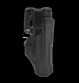 Blackhawk BLACKHAWK T-SERIES L2D HOLSTER, SIG SAUER P320 / M18 / M17, RIGHT HAND, BLACK, LEVEL 2 RETENTION