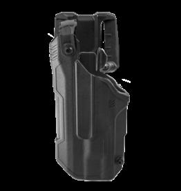 Blackhawk BLACKHAWK T-SERIES L3D HOLSTER, GLOCK 17 / 22, TLR-7, LEFT HAND, BLACK, LEVEL 3 RETENTION