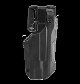 Blackhawk BLACKHAWK T-SERIES L3D HOLSTER, GLOCK 17 / 22, TLR-7, RIGHT HAND, BLACK, LEVEL 3 RETENTION