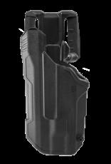 Blackhawk BLACKHAWK T-SERIES L2D HOLSTER, GLOCK 17 / 19 / 22 / 23 / 45, TLR-1 / TLR-2, LEFT HAND, BLACK, LEVEL 2 RETENTION