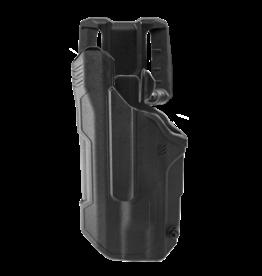 Blackhawk BLACKHAWK T-SERIES L2D HOLSTER, GLOCK 21 / S&W M&P NO SAFETY, TLR-1 / TLR-2, LEFT HAND, BLACK, LEVEL 2 RETENTION