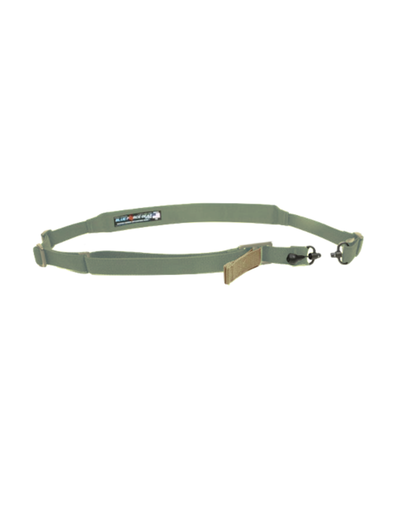 Blue Force Gear BLUE FORCE GEAR VICKERS 2 TO 1 PADDED SLING, RED SWIVEL VERSION, #VCAS-2TO1-RED-200-AA-OD,  OD GREEN