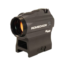 Sig Sauer SIG SAUER ROMEO 4DR, #SOR41111, COMPACT RED DOT SIGHT, 1X20MM, 2 MOA RED DOT 65 MOA CIRCLE DOT, 0.5 MOA ADJ, CR2032, M1913, GRAPHITE