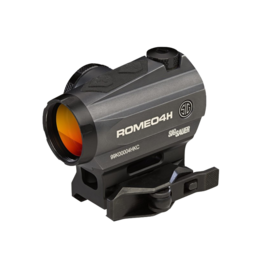 Sig Sauer SIG SAUER ROMEO 4H RED DOT SIGHT, #SOR43012, BALLISTIC CIRCLE QUADPLEX, 0.5 MOA ADJ, SIDE BATTERY, TORX AND QR MOUNTS, GRAPHITE