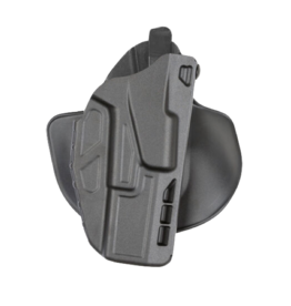 Safariland SAFARILAND 7378 7TS ALS PADDLE & BELT COMBO HOLSTER, #7378-832-411,  GLOCK 17/22 W/ ITI M3 LIGHT, PLAIN BLACK, RH
