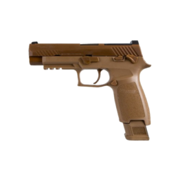 "Sig Sauer SIG SAUER P320 M17 SURPLUS, # UDM17-9-SURPLUS, 9MM, 4.7"", 17RD, COYOTE, SIGLITE NIGHT SIGHTS, OPTIC READY, THUMB SAFETY, SURPLUS"