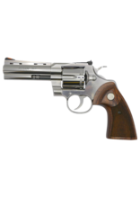 Colt COLT PYTHON, #PYTHONSP4WTS, .357 MAGNUM,  4.25IN BARREL, STAINLESS, WOOD GRIPS