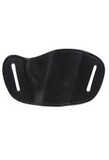 Bulldog BULLDOG MOLDED BELT SLIDE HOLSTER, LEATHER, BLACK, SMALL