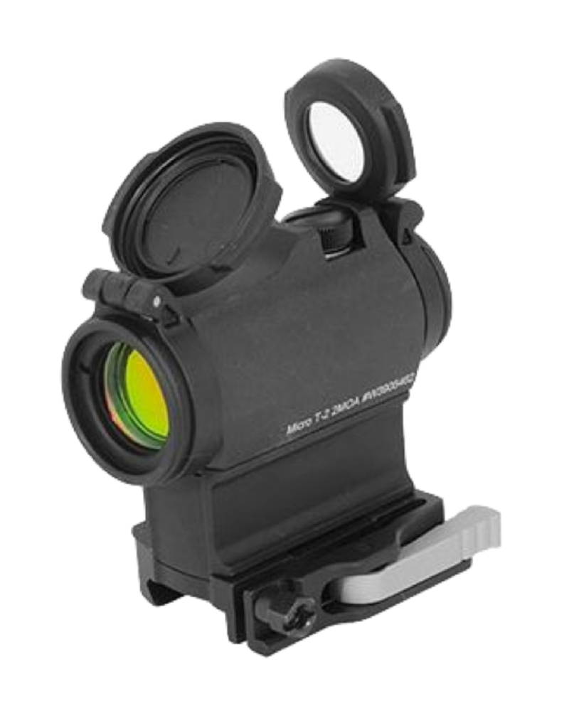 Aimpoint AIMPOINT MICRO T-2, #200198, 2 MOA, RED DOT, LRP MOUNT, FLIP UP LENS COVER BLK