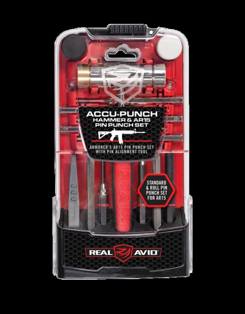 REAL AVID REAL AVID ACCU-PUNCH, #AVHPS-AR, HAMMER & AR15 PIN PUNCH SET