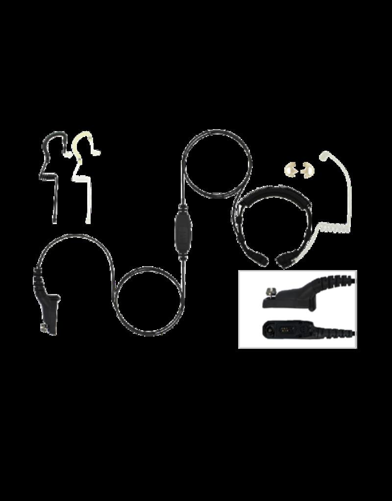 Ear Hugger EARHUGGER, THROAT MICROPHONE, MOTOROLA XPR / MOTOTRBO SERIES