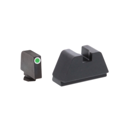 AMERIGLO SUPPRESSOR HEIGHT NIGHT SIGHTS, #GL-481, 2XL, 3 DOT TRITIUM, WHITE OUTLINE