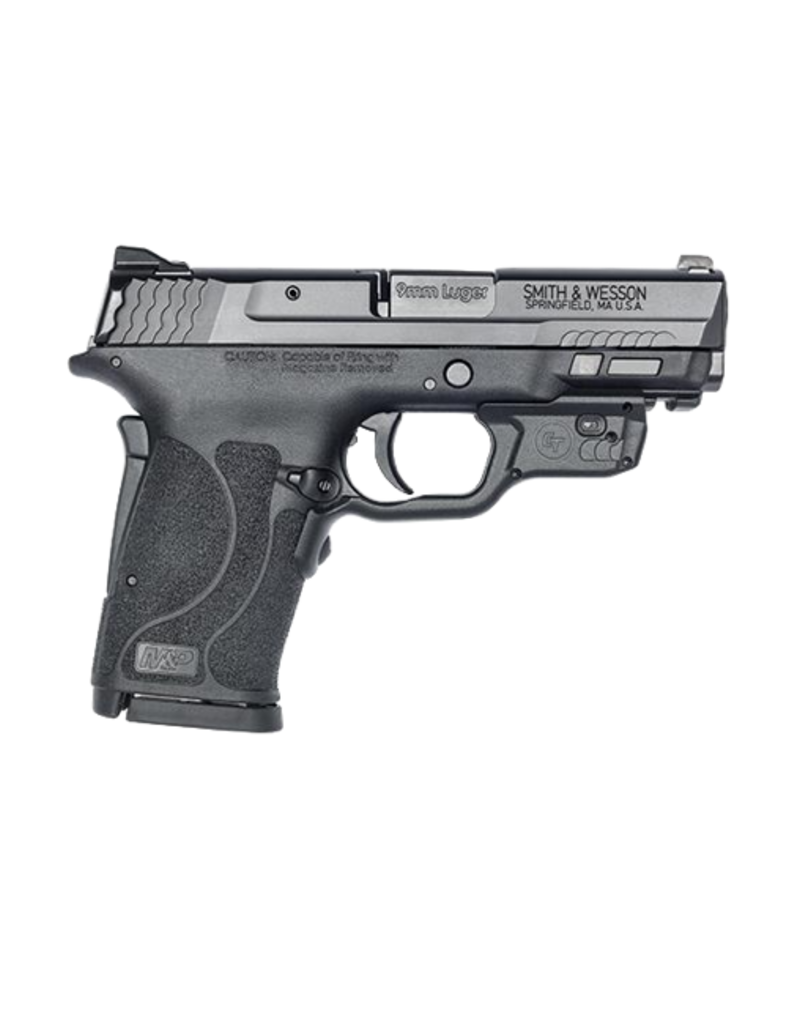 """Smith & Wesson Smith & Wesson 12439 M&P 9 Shield EZ M2.0 9mm Luger 3.68"""" 8+1 Black Polymer Grip No Thumb Safety Red Crimson Trace Laser"""