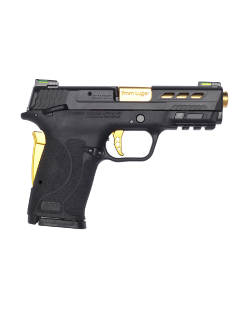 Smith & Wesson SMITH & WESSON M&P9 SHIELD EZ, PERFORMANCE CENTER, #13227, 9MM, GOLD TiN, TS