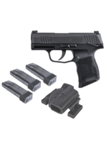 Sig Sauer SIG SAUER P365 TACPAC, #365-9-BXR3-MS-TACPAC, 9MM, MANUAL SAFETY, 3-12RD MAGAZINES, HOLSTER