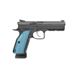 CZ CZ SHADOW 2 OPTICS READY, #91251, 9MM, BLUE ALUMINUM GRIPS, 2 - 19RD MAGAZINES, OPTICS PLATES ARE NOT INCLUDED