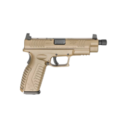 "Springfield Armory SPRINGFIELD XDM TACTICAL, XDMT94510FHCOSP, 10MM, 4.5"" THREADED BARREL, FDE, OPTIC READY"