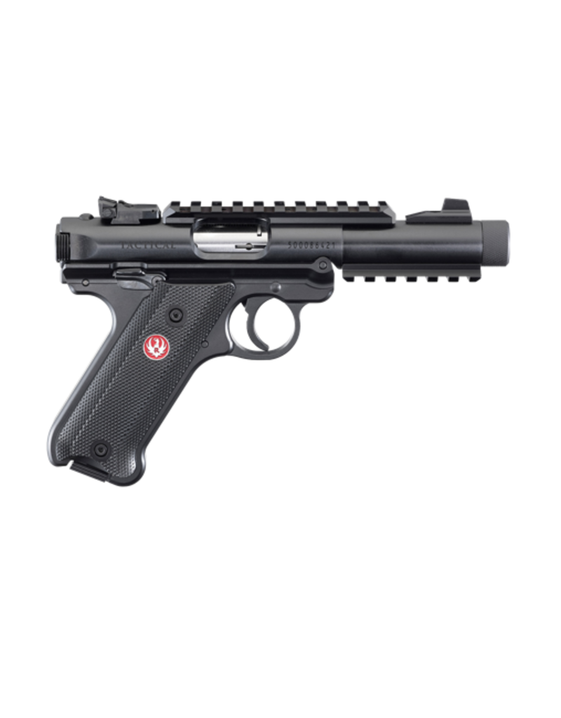 """Ruger RUGER MARK IV, #40150, 22LR, TACTICAL, 4.4"""", BLUED, CHECKERED/SYNTHETIC"""