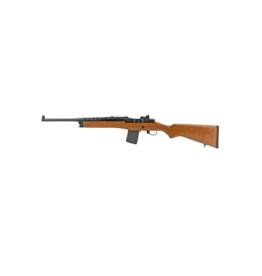 Ruger RUGER MINI-14 RANCH RIFLE, #05816, 5.56 NATO, 18.5 INCH BARREL, BLUE FINISH, WOOD STOCK