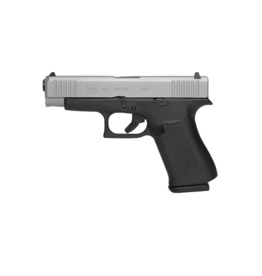 "Glock GLOCK 48, #PA485SL302AB, 9MM, 4"", SINGLE STACK, 10RD, 2 MAGAZINES, SILVER nPVD, AMERIGLO BOLD NIGHT SIGHTS"