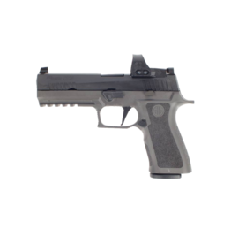 """Sig Sauer LE SIG SAUER P320 FULL, W320F-9-BXR3-TXG-PRO-RXP, 9MM, 4.7"""", TALL XRAY3 NIGHT SIGHTS, 3-17RD MAGAZINE, TUNGSTEN FRAME, 3MOA, ROMEO 1 PRO RED DOT"""