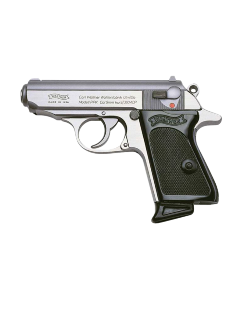 Walther WALTHER PPK, #4796001, 380 ACP, STAINLESSS, 6RD MAGAZINES