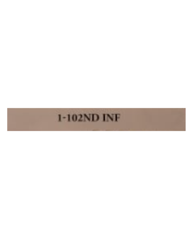 Sig Custom Works Engraving Program SIG CUSTOM WORKS ENGRAVING : 1-102ND INF - M17