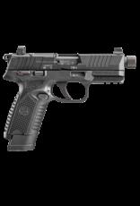 FNH FN 502T, 66-101010, 22LR, 1-10/1-15RD MAG, OPTIC READY, THREADED BARREL, BLACK