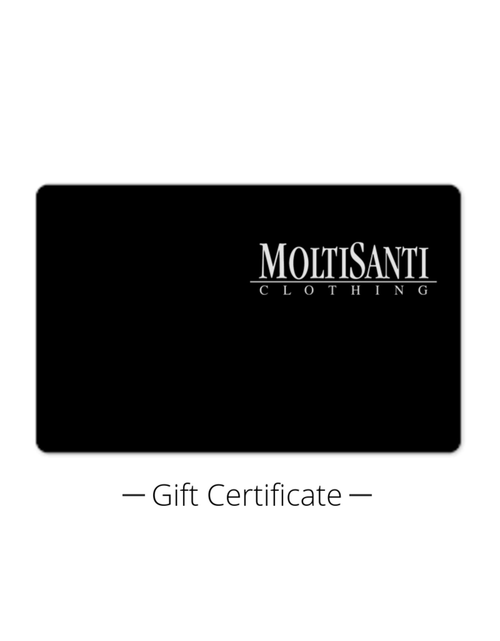 $250 Moltisanti Gift Certificate