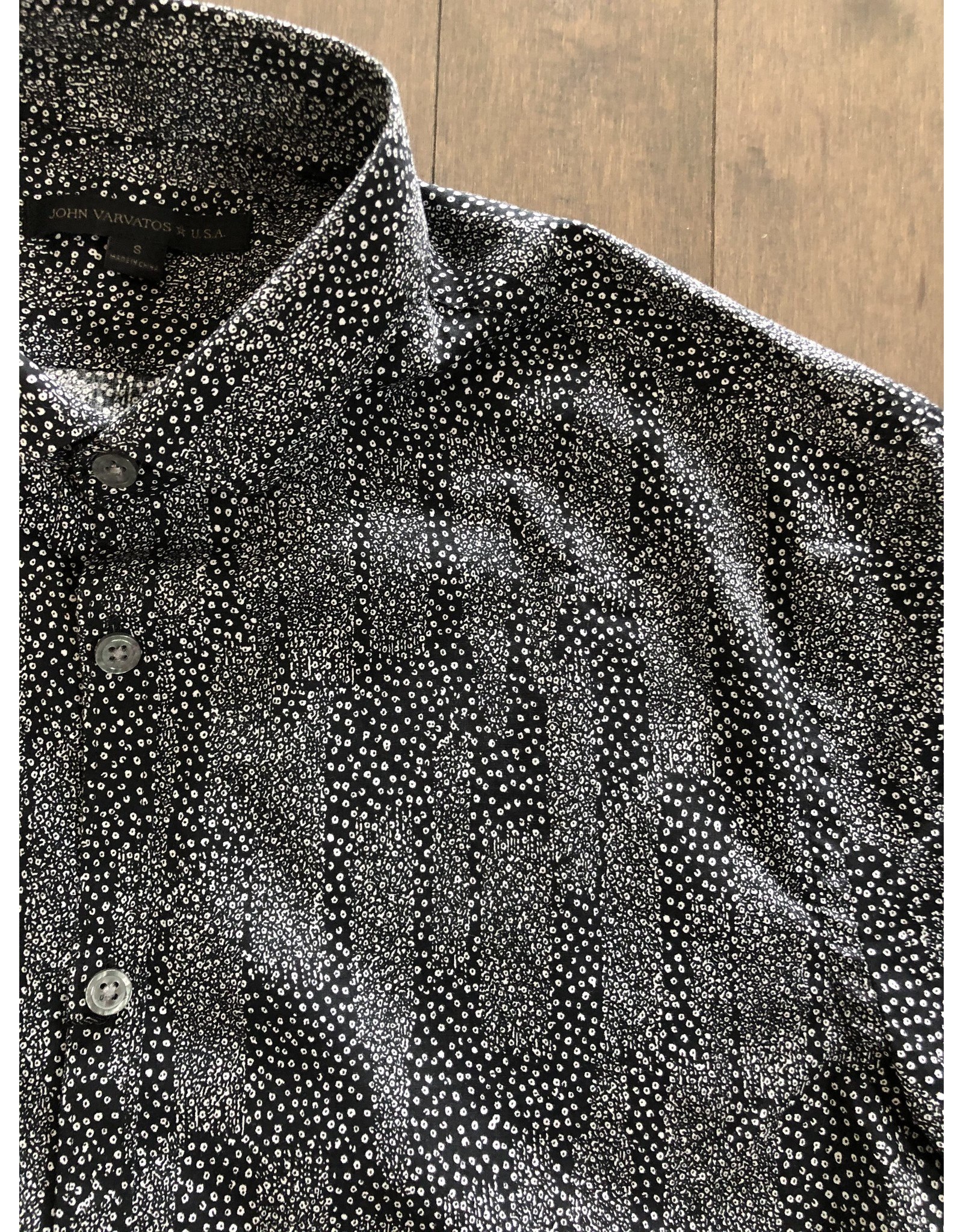 JOHN VARVATOS JOHN VARVATOS B AND W DRESS SHIRT SS20