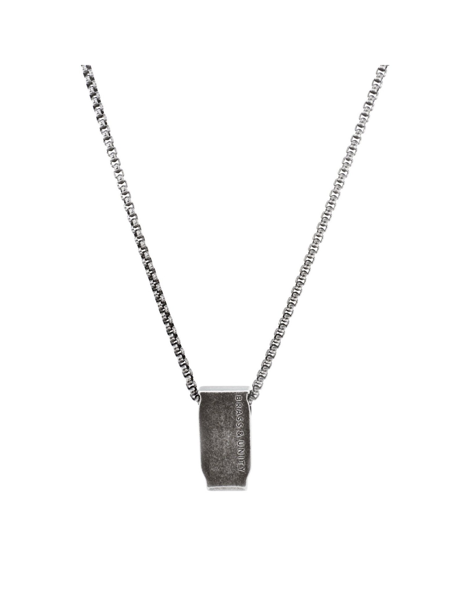 BRASS AND UNITY Brass and Unity - Distressed Titanium Necklace