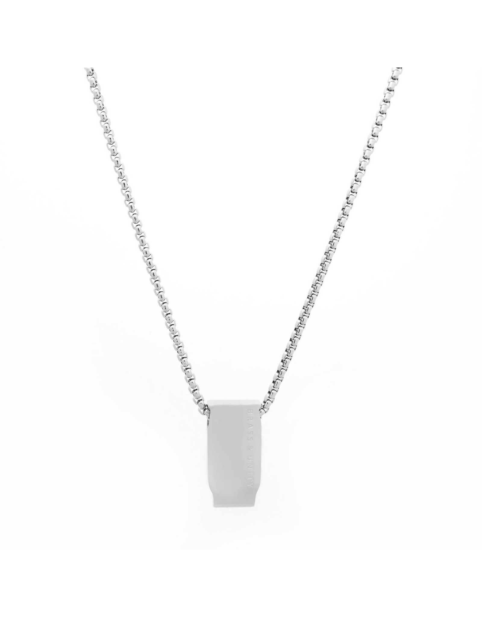 BRASS AND UNITY Brass and Unity - 2D Silver Necklace