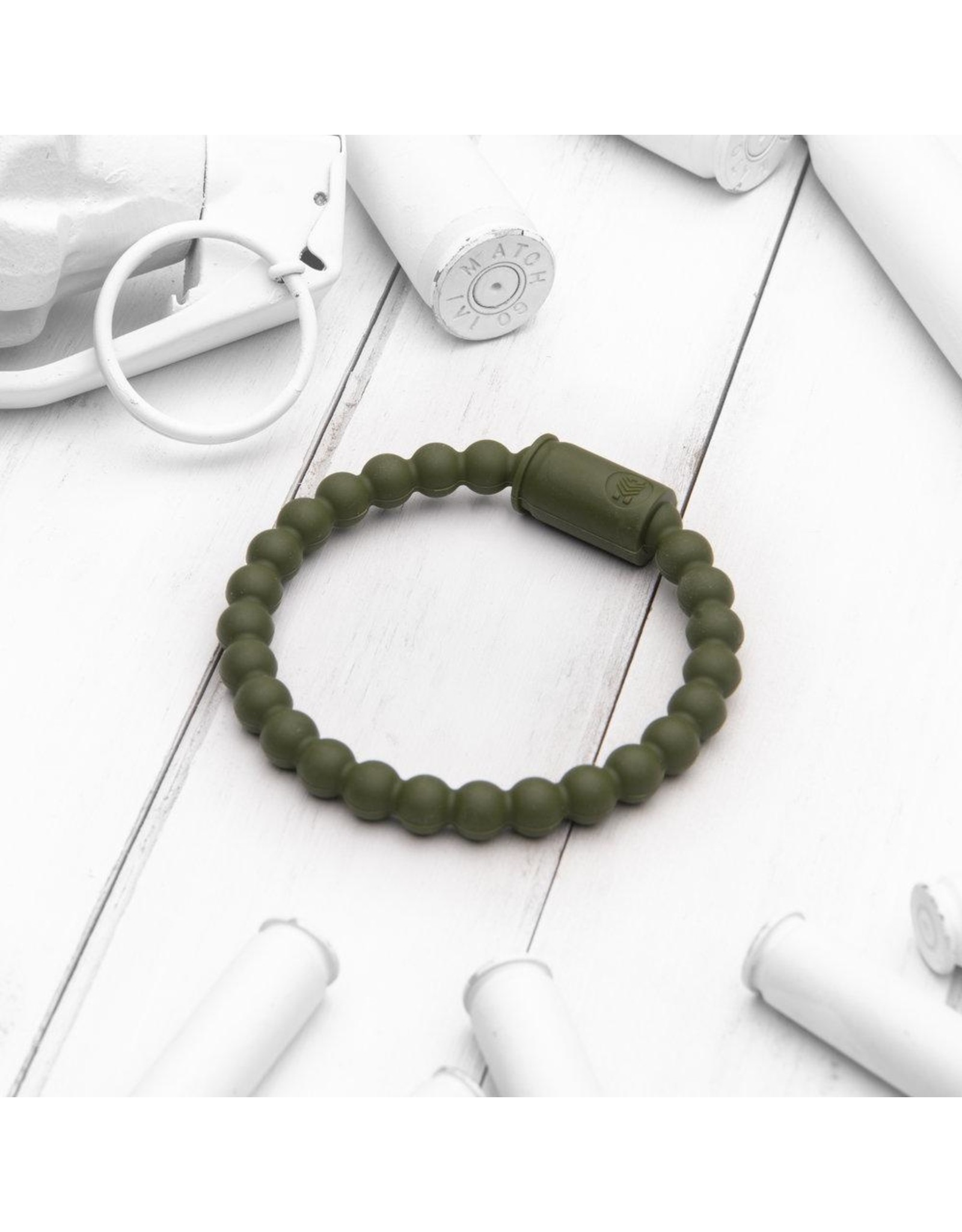 BRASS AND UNITY Brass and Unity - Army Green Active Bracelet