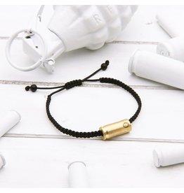 BRASS AND UNITY Brass and Unity - Black Rope Bracelet