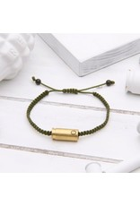 BRASS AND UNITY Brass and Unity - Army Green Rope Bracelet