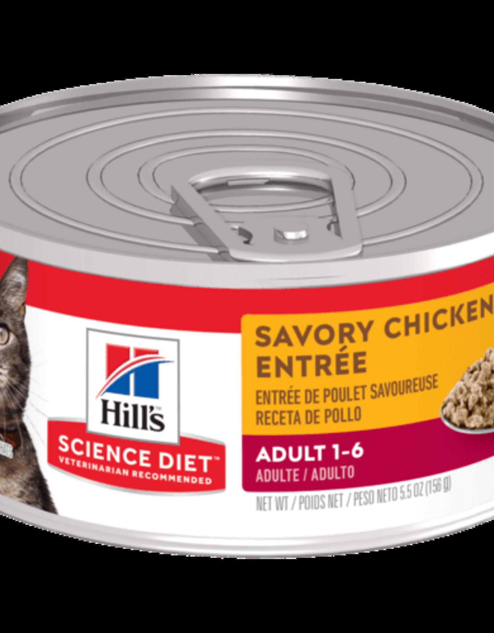Hill's Science Diet Hill's Science Diet Feline Can 7+ Savoury Chicken Entree 156g