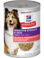 Hill's Science Diet Hill's Science Diet Canine Can Sensitive Stomach & Skin Sal/Veg 363gm.