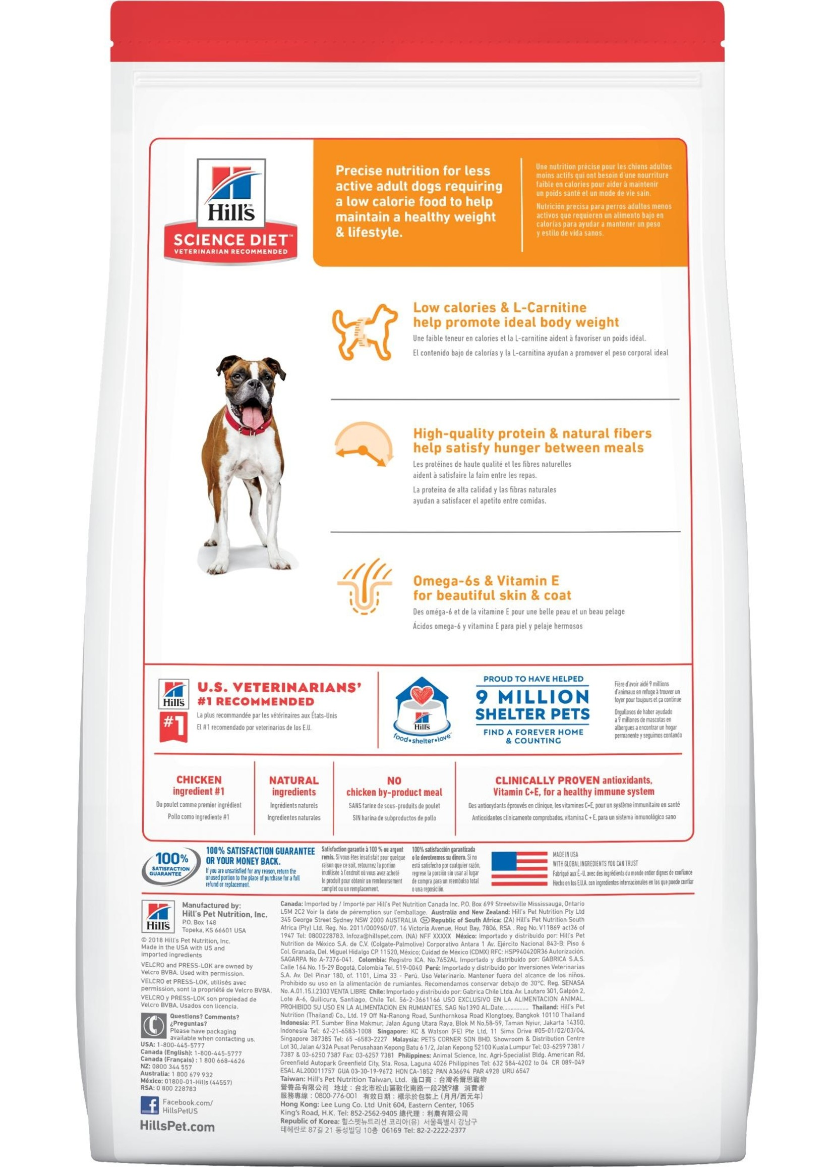 Hill's Science Diet Hill's Science Diet Canine Adult 1-6 Light 30lb
