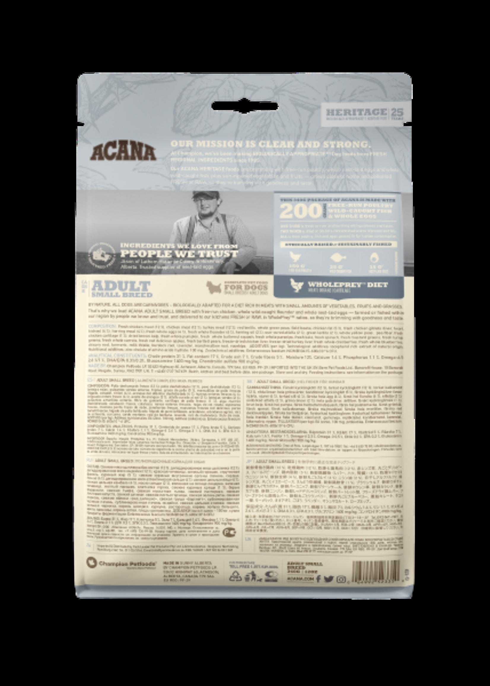 Acana® Acana Dog Heritage Adult Small Breed 340gm