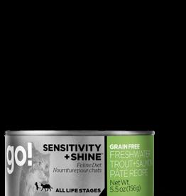 Petcurean Go Sensitivity + Shine Cat Grain Free Trout + Salmon Pate Can 5.5oz