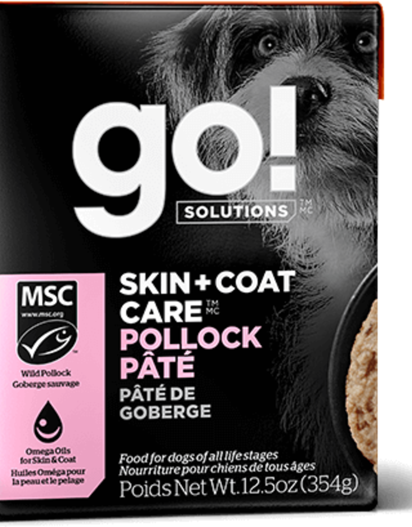 Petcurean GO Skin & Coat Pollock Pate Dog 12.5oz