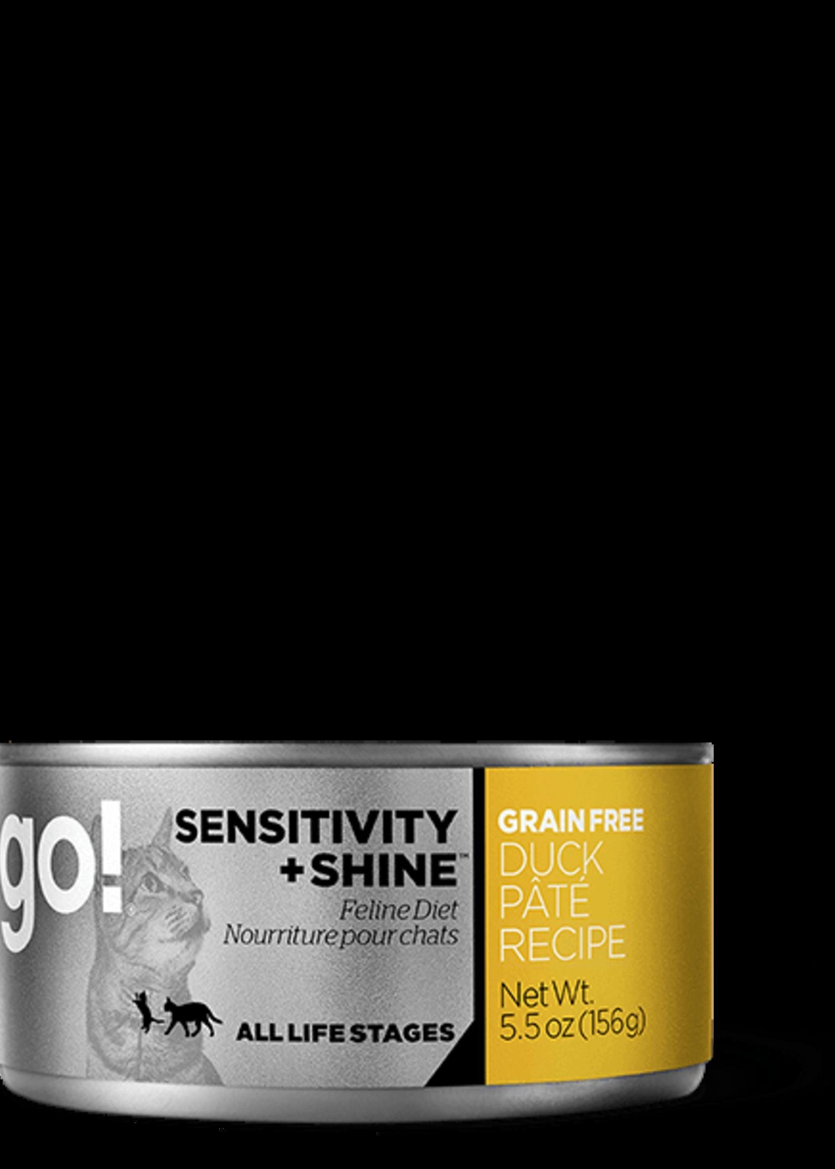 Petcurean Go Sensitivity + Shine Cat Duck Pate Can 5.5oz.