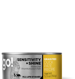 Petcurean Go Sensitivity + Shine Cat Duck Pate Can 5.5oz.