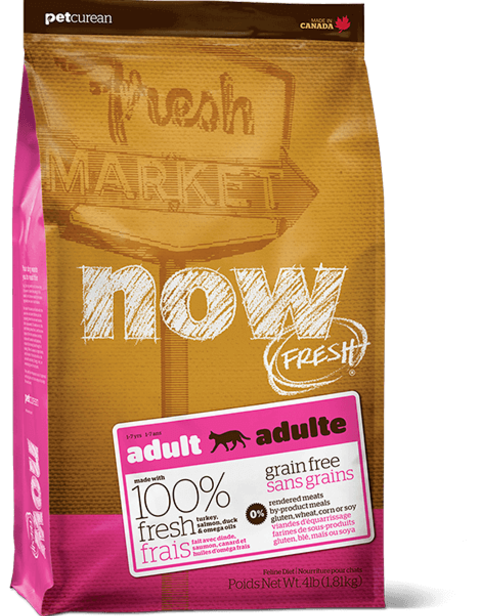Petcurean Now Fresh Grain Free Cat Turkey Salmon Duck 8lb