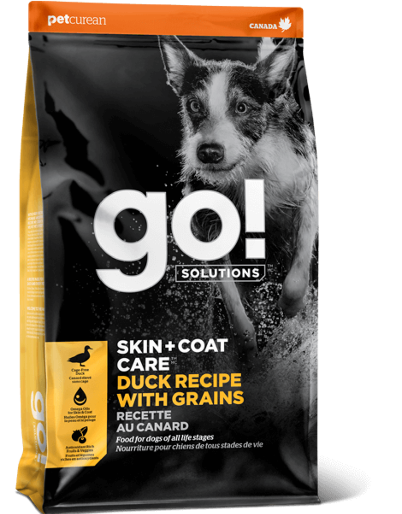 Petcurean GO! SKIN + COAT CARE Duck Recipe With Grains for dogs