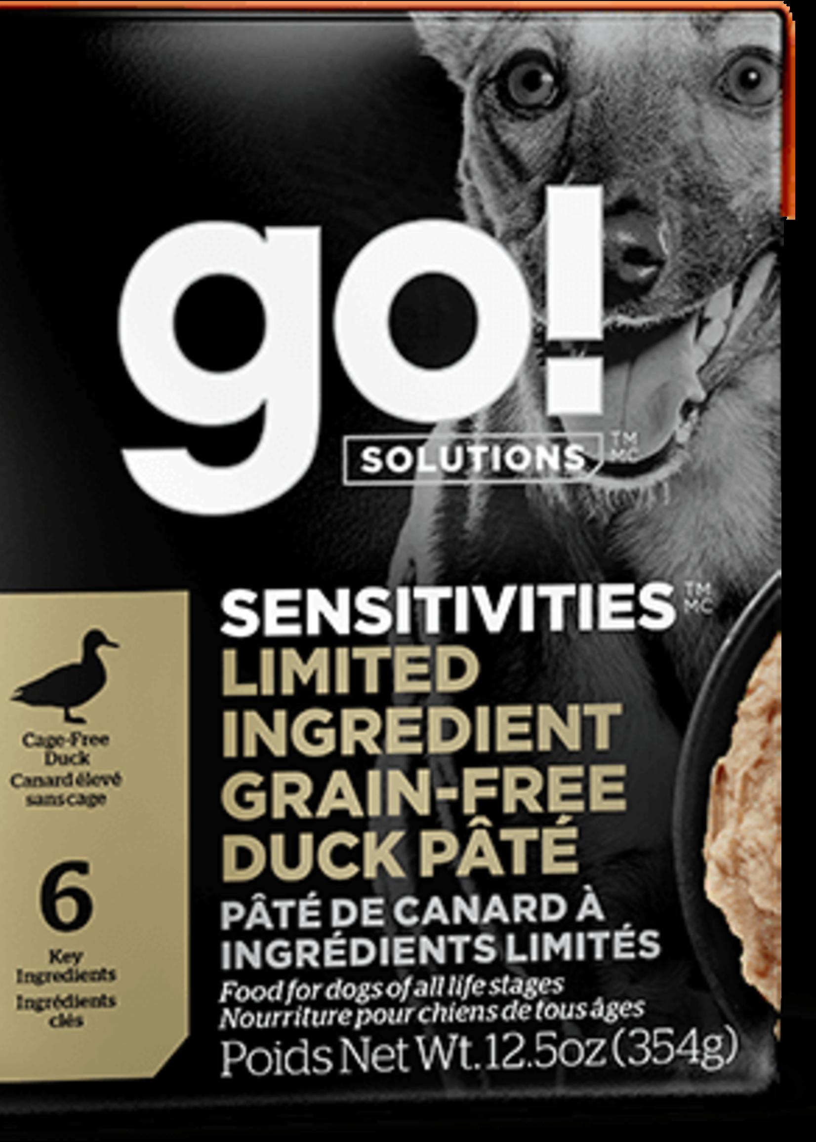 Petcurean GO Sensitivities LID Grain Free Duck Dog 12.5oz