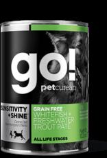Petcurean Go Sensitivity + Shine Dog Grain Free Freshwater Trout Pate Can 13.2oz