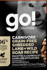 Petcurean Go Carnivore Grain Free Shredded Lamb   Wild Boar Dog 12.5oz