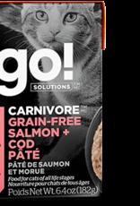 Petcurean GO Carnivore Grain Free Salmon Cod Pate Cat 6.4oz